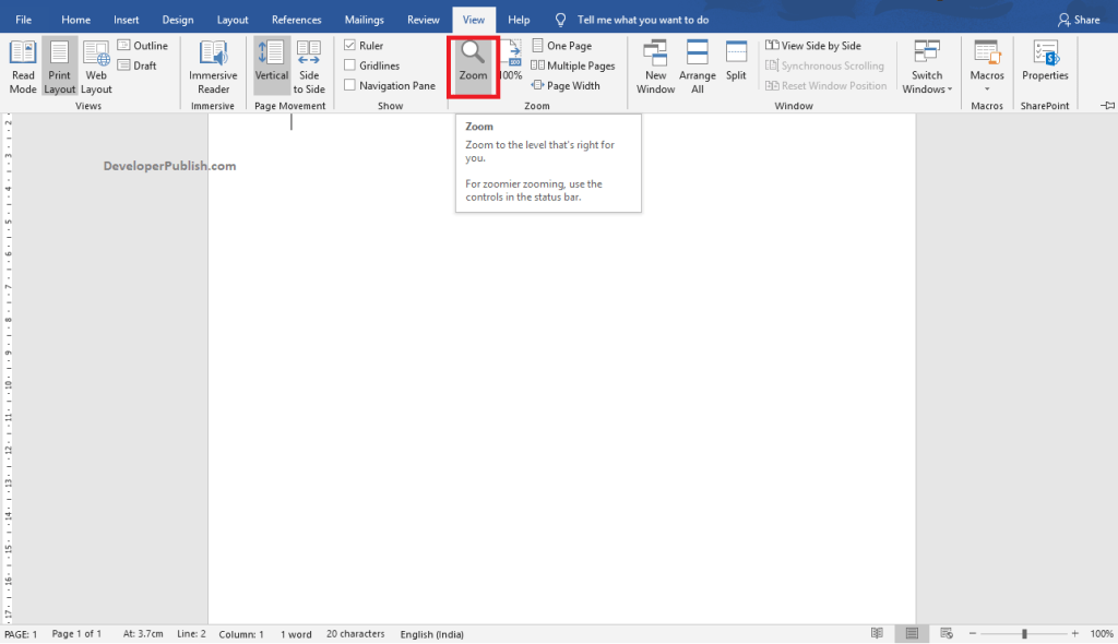 How to Make Text look larger or smaller in Word?