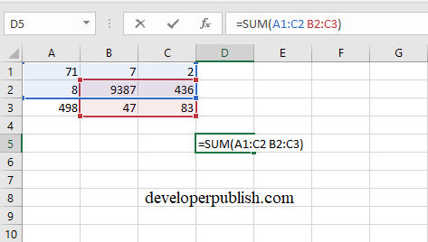Intersect Operator in Excel