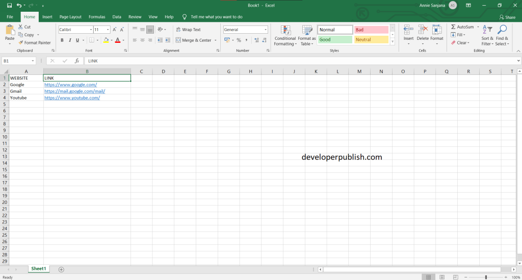 How to Remove Multiple hyperlinks from Excel Worksheets quickly?