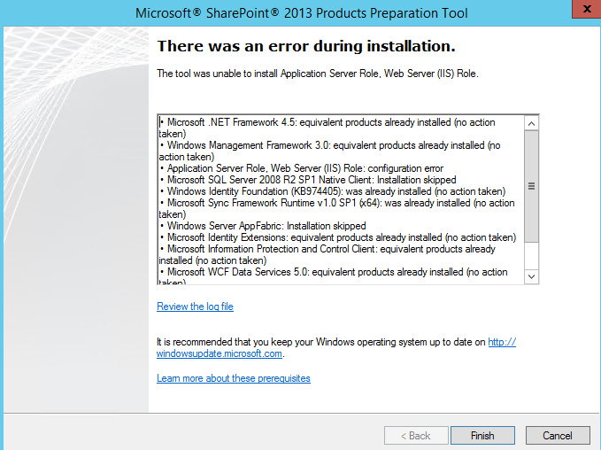 SharePoint 2013 Not Supported On Windows Server 2012 R2