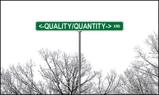 Quality vs Quantity Developing Money ideas