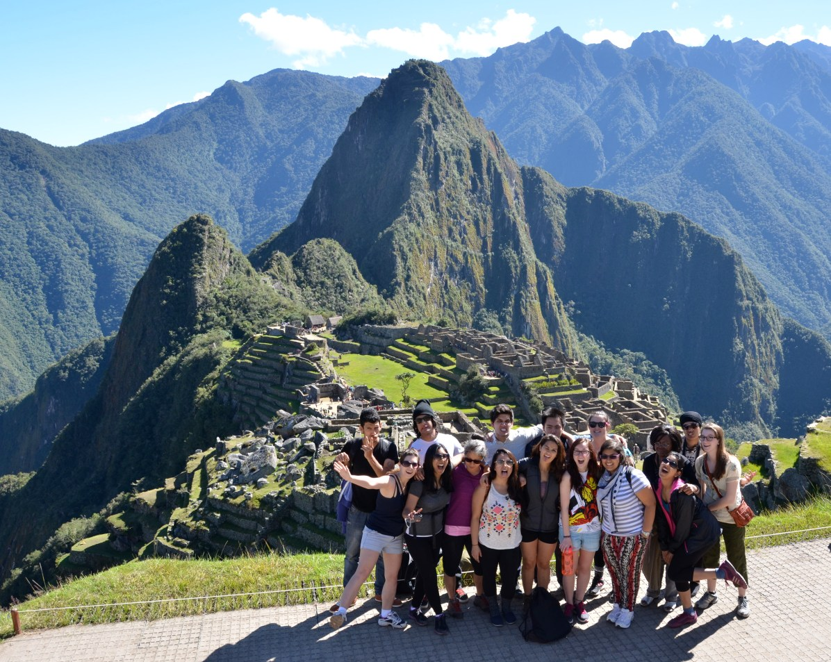 Participants from May take time away from their placements to visit Machu Picchu