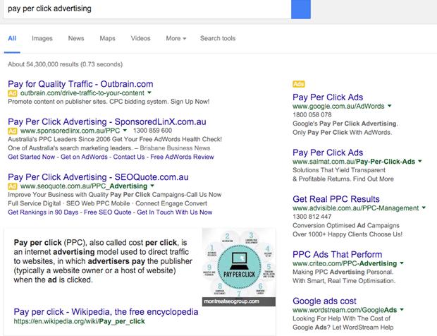 google serp 2016
