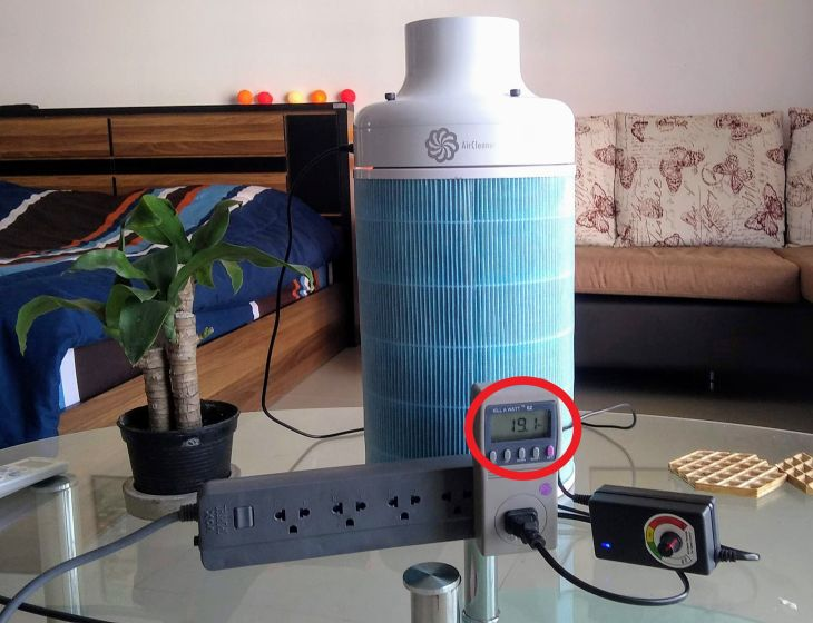air purifier power consumption