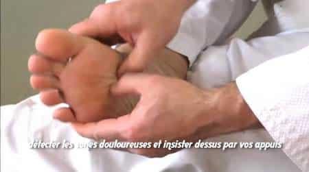 réflexologie massage des zones reflexe du pied