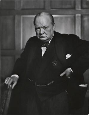 image de Churchill qui n'abandonnait jamais