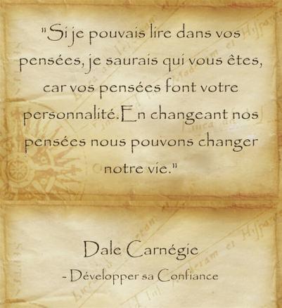 cotation inspirante de Dale Carnegie sur le loi de l'attraction
