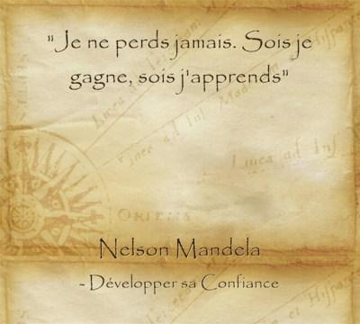 Citation de Mandela pour apprendre dans toutes les situations même quand on échoue