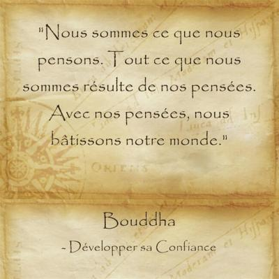 Citation de Bouddha sur la force de la pensée