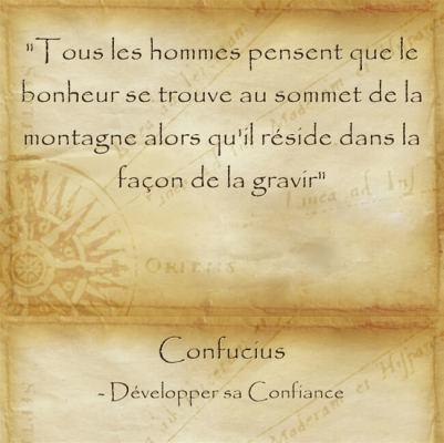 Citation sage de Confucius sur la beauté du chemin