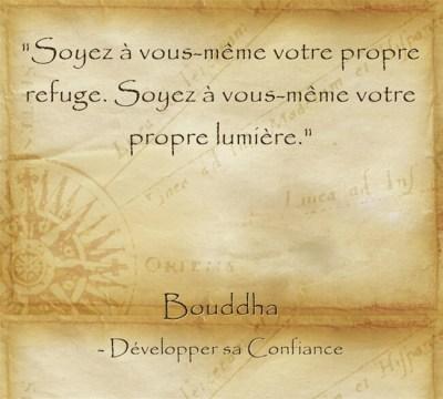 Citation de Bouddha sur l'importance de croire en soi