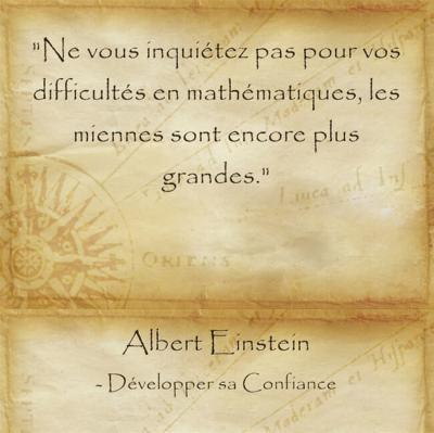 Citation d'Albert Einstein pour relativiser ses problèmes