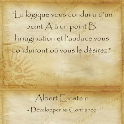 Citation d'Albert Einstein sur l'imagination et l'audace