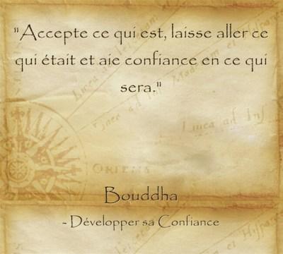 Citation de Bouddha sur le pouvoir de l'acceptation