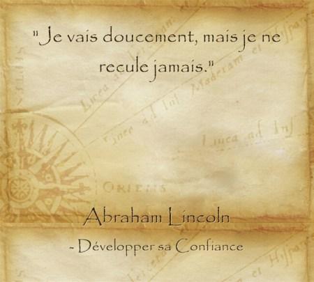 Ciation d'Abraham Lincoln sur l'importance de la persévérance