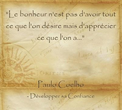 Citation de Paolo Coelho pour apprécier l'instant présent