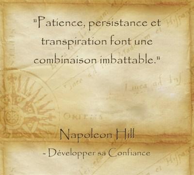 Citation que tout est possible avec de la persévérance et des efforts