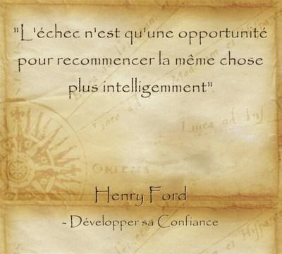 Citation d'Henry Ford pour relativiser l'échec