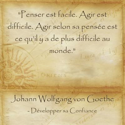 citation de Goethe sur l'importance de passer à l'action