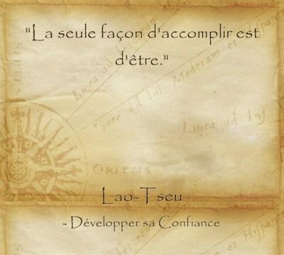 Phrase célèbre de Lao Tseu pour inviter à l'action