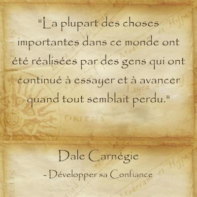 Citation de Dale Carnegie sur la persévérance