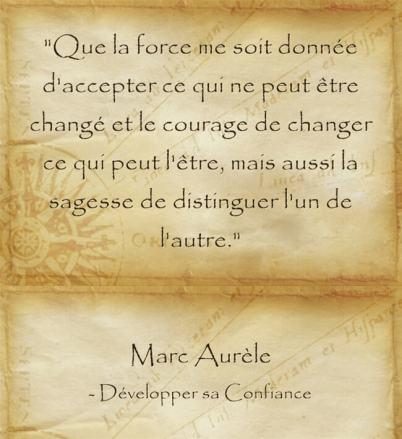 Citation de Marc Aurèle sur la capacité de changement