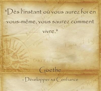 Citation de Goethe pour avoir confiance en soi et réaliser ses rêves