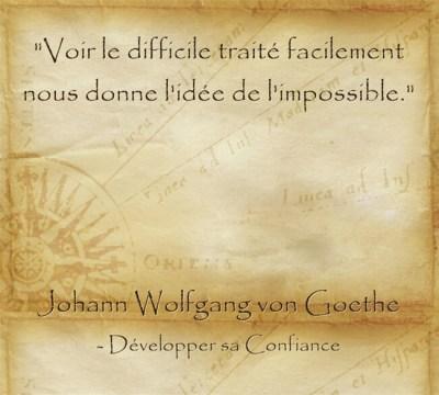 Citation de Goethe pour dépasser ses limites et réaliser ses rêves