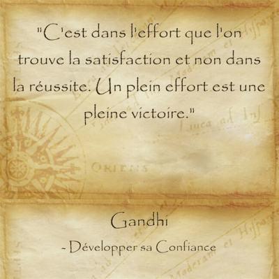 Citation de Gandhi sur l'épanouissement personnel