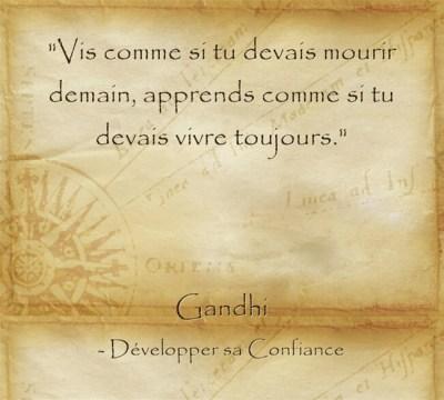 Citation de Gandhi sur la sagesse du savoir
