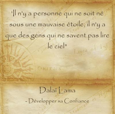 citation du Dalaï Lama sur le fait de devoir trouver son chemin sa destiné