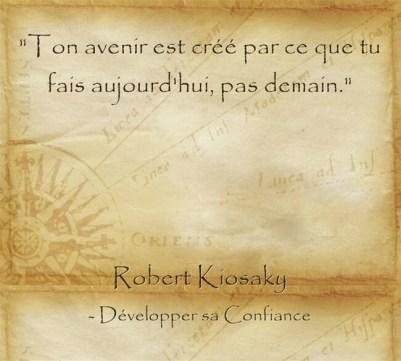 Citation de Robert Kiyosaki sur l'importance de passer à l'action et le pouvoir d'agir