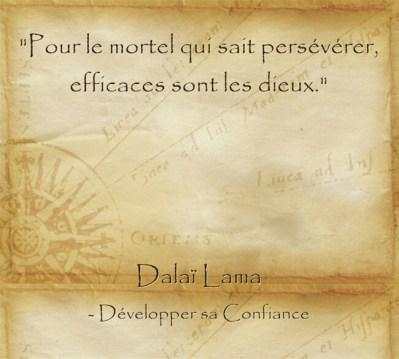 Citation de paix intérieure du Dalaï Lama