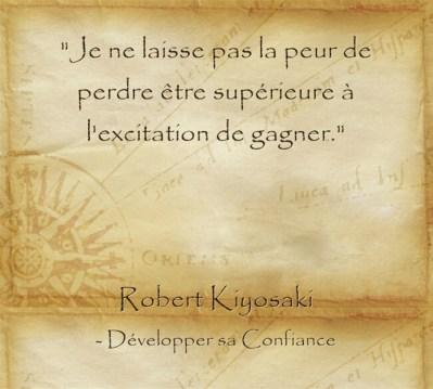 Citation de Robert Kiosaki sur l'envie de réussir et d'agir
