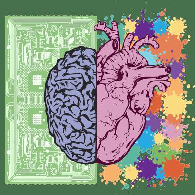 Image symbole des émotions et du cerveau pour prendre les bonnes décisions et vivre sans regrets