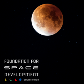 Moon in sky Foundation for Space Developement