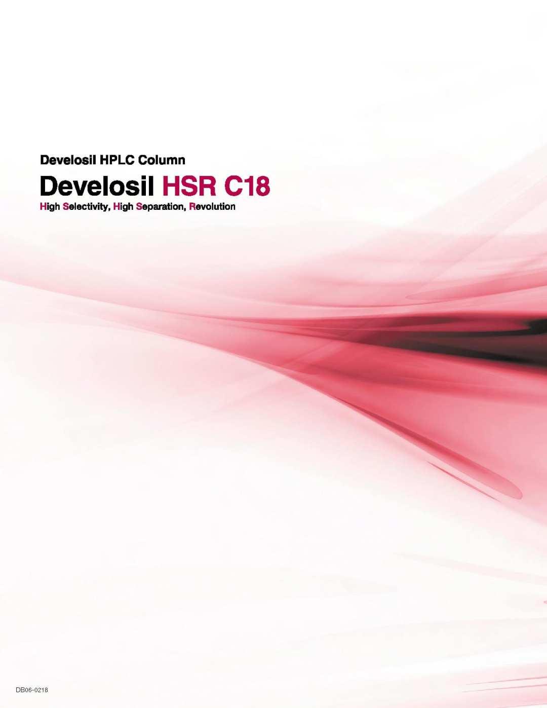 Develosil HSR C18 Product Brochure