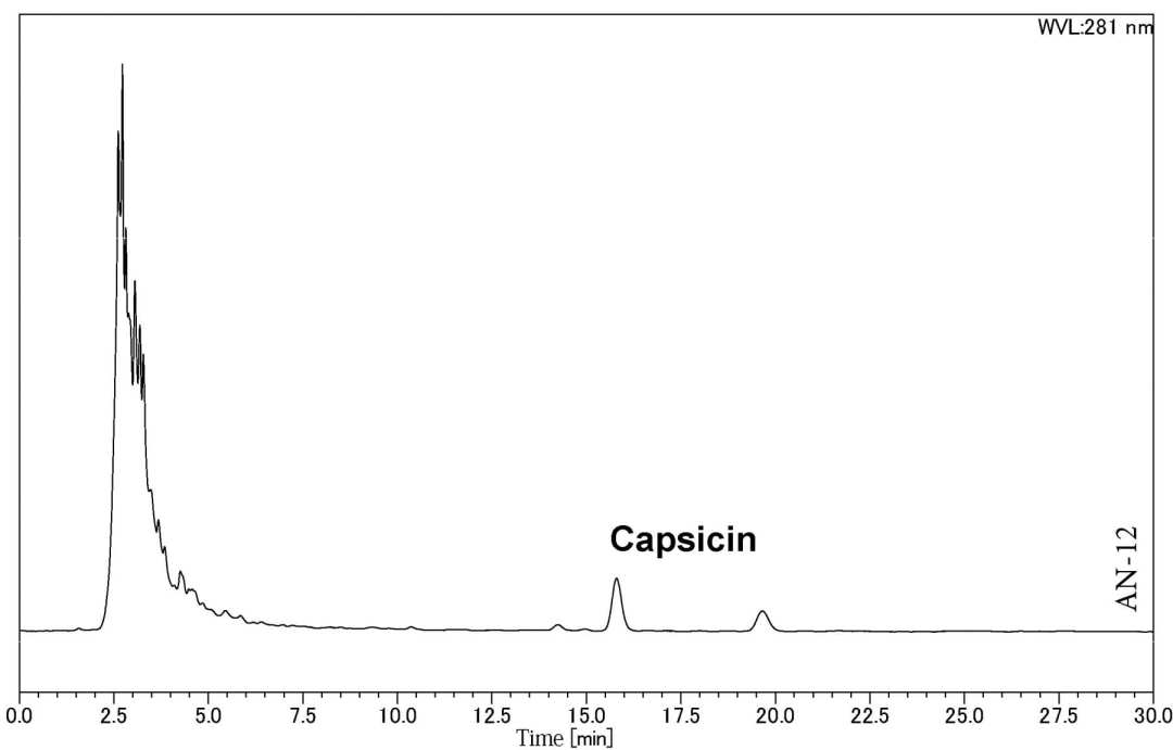Analysis of Capsaicin in Red Pepper using HPLC-UV