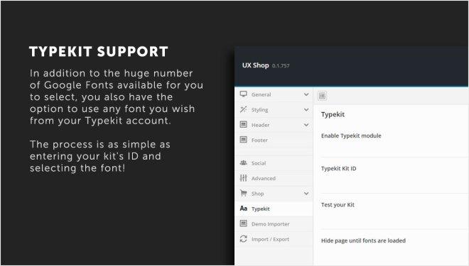 Built-in Typekit support