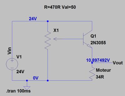 Ajout d'un transistor au montage potentiomètrique