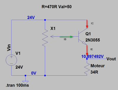 Dissipation de puissance du transistor