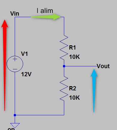 schéma de principe pont diviseur