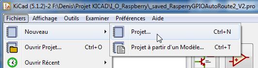 Nouveau projet Kicad