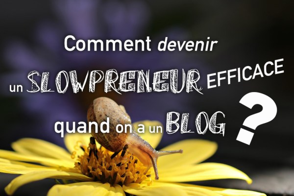 Comment devenir un slowpreneur efficace quand on a un blog ?