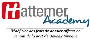 Hattemer Academy : : bénéficiez des frais de dossier offerts en venant de la part de Devenir Bilingue