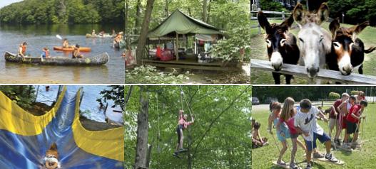 Jeunes à un camp type YMCA summer camp