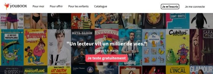 Youboox, une bibliothèque numérique de livres, BD, etc.