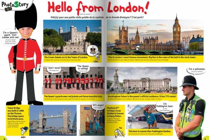 Hello from London - extrait du magazine I Love English Kids