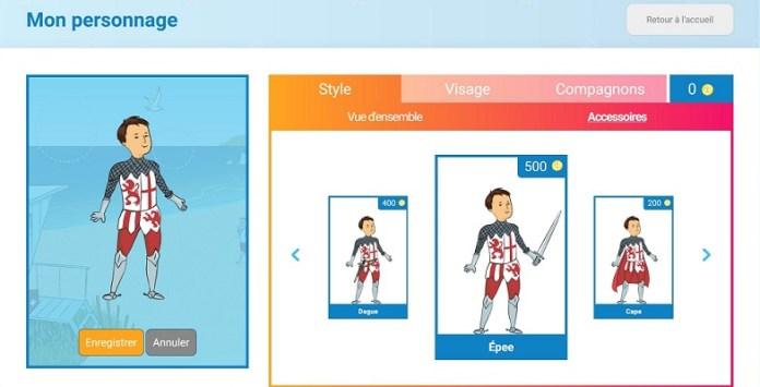 Exemple de personnage à construire sur Savio.fr