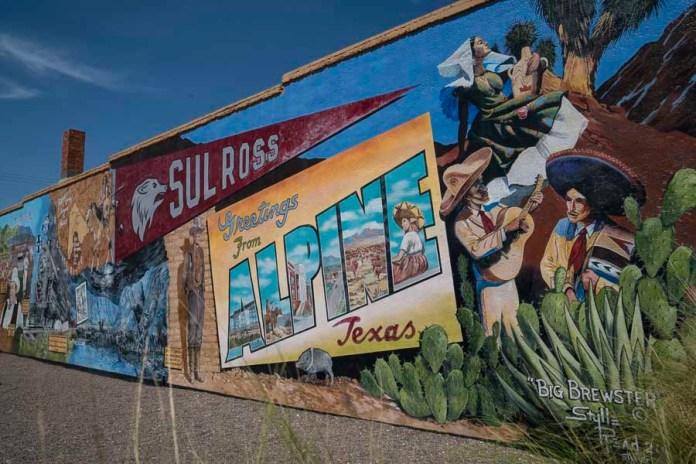 "Street art ""Bienvenue au Texas"""